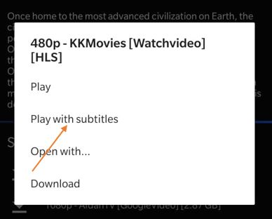 Subtitles on Cinema APK