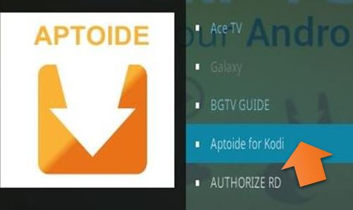 Aptoide for kodi
