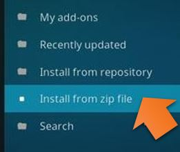 Install from zip file